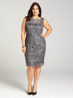 Plus Size Party Dress - Plus Size Scalloped Beaded Dress  Plus ...