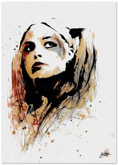 Harley Quinn of Suicide Squad by Sam Bentley Comic Art --Be your own Whyld Girl with a wicked tee today! http://whyldgirl.com/tshirts