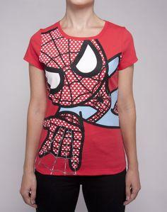 tokidoki x Marvel Caught In Your Web Tee $24 #tokidoki #marvel #spiderman