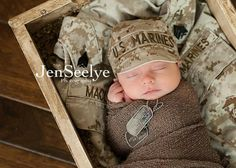A little nine day old baby. named Judson is probably going to be a United States Marine.....