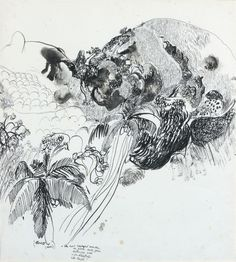 Works on Paper - Brett Whiteley - Page 4 - Australian Art Auction Records Sketchbook Drawings, Drawing Sketches, Art Drawings, Drawing Ideas, Sketching, Contemporary Australian Artists, Original Art For Sale, Ink Illustrations, Art Auction