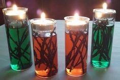 Unique candle arrangement for Christmas - Distinctive Creations
