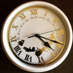Foiled Peter Pan Inspired Clock by PracPerfCrafts on Etsy