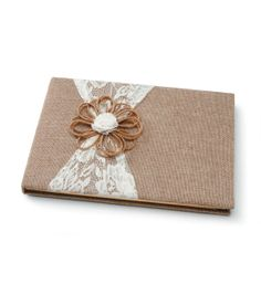 Burlap And Lace Guest Book at Joann.com