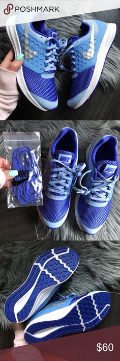 NEW 💙 NIKE DOWNSHIFTER TRAINER SZ 5.5y BRAND NEW, NIKE FREE! Cute, cozy & comfy NIKES |SPORTY PERIWINKLE  💙 Original NIKE box no lid.   Ships same or next day from my smoke free home.   PRICED FIRM, offers will be considered through the offer button only. Bundle to save. ⚡️  100% authentic & direct from NIKE Nike Shoes Sneakers