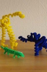 Marcus loves this simple toy. Cant tell you how many countless bags of Pipe cleaners he has gone thru. He makes dinosaurs like these animals!