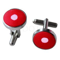 Polka Dot Red Cufflinks http://www.dqt.co.uk/polka-dot-red-cufflinks.html