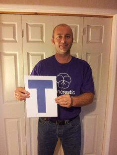 Day 8 - T is for Touching Tribute. We are amazed by how our supporters pay tribute to their loved ones by fundraising for usMalcolm Pyle, who is holding the T, is paying tribute to his father who lost his battle with pancreatic cancer last year by jumping out of a plane. Please show your support by visiting his fundraising page; http://www.bmycharity.com/pyliesfundraisingpage. #PCAction #pancreaticcancer #awarenessmonth