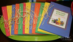sesame street decorations diy | Sesame Street Birthday ~ DIY Coloring Books | Seshalyn's Party Ideas