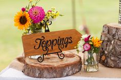 hand painted wood sign - inexpensive wedding idea