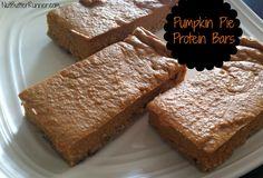 Pumpkin Pie Protein Bars