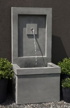 Shop Campania International outdoor fountains online and have it delivered to your door. Large Outdoor Fountains, Stone Fountains, Garden Fountains, Water Fountains, Concrete Fountains, Water Wall Fountain, Outdoor Walls, Outdoor Decor, Outdoor Areas
