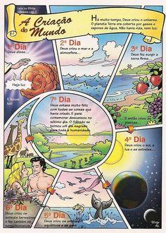 Genesis Creation, Creation Bible, Bible Art, Bible Scriptures, Religion In Schools, Jesus Cartoon, Bible Illustrations, Preschool Age, Bible Activities