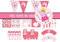 FREE Princess Peppa Pig Printable – Birthday Party Ideas for Kids and Adults FREE Princess Peppa Pig Printable, Free peppa pig invitation Fiestas Peppa Pig, Cumple Peppa Pig, Princess Peppa Pig Party, Peppa Pig Princesa, Peppa Pig Printables, Free Printables, Party Printables, Peppa Pig Invitations, Pig Cupcakes
