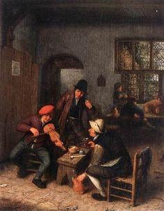 Jansz van Adriaen Interior of a tavern with violin player