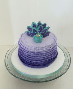 Ombré Peacock Cake.