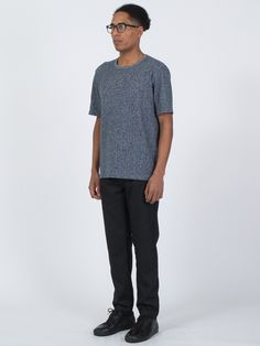 Speckled Terry Tee in navy - http://bit.ly/1V5aQT9