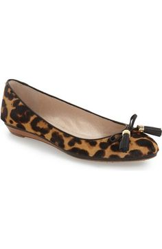 Louise et Cie 'Aradella' Genuine Calf Hair Pointy Toe Flat (Women) (Nordstrom Exclusive) available at #Nordstrom