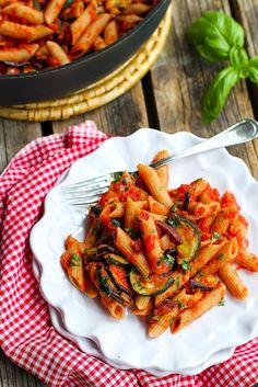 Eggplant pasta, Pasta puttanesca and Eggplants on Pinterest