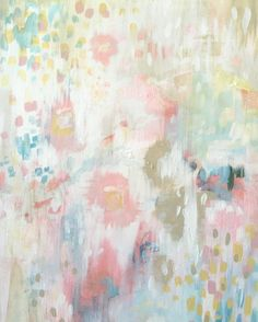Summertime and strawberry wine, abstract painting jewelwing.com