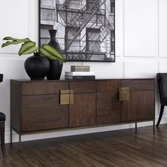 Beautiful Loyd Buffet by top rated furniture sale from top store Sideboard Dekor, Antique Sideboard, Modern Sideboard, Antique Brass, Dark Wood Sideboard, Credenza Decor, Sideboard Ideas, Retro Sideboard, Dining Room Sideboard