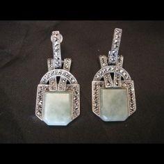 boucles-oreilles-argent-marcasites-jade-art-deco-