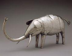 Silver Buffalo and Elephant [Republic of Benin; Fon] (2002.517.1-2) | Heilbrunn Timeline of Art History | The Metropolitan Museum of Art