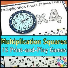 Multiplication 'Squares' Game