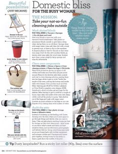 The Short Round Handled Classic Basket was featured in Beautiful Possibilities in Ideal Home, August 2012