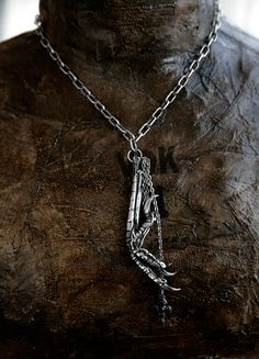 Crow Claw Sterling Silver Necklace by Bird Ov Prey MMX