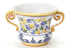I love blue & yellow pottery. This would be great in my kitchen. From One Kings Lane