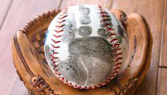 Handprint Baseball Father's Day Gift with Free Printable Poem | Sunny Day Family American ExpressDinersJCBMasterCardPayPalSelzVisa