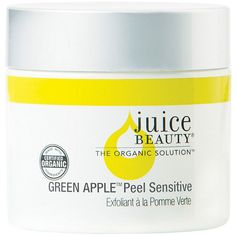 Juice Beauty Green Apple Green Apple Peel, Sensitive 2 oz (59 ml) ($39) ❤ liked on Polyvore featuring beauty products, skincare, face care, aha skin care, juice beauty and juice beauty skin care