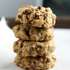 My kids would make these without the sugar. --                                        Salted Chocolate Chip Oatmeal Cookies - Vegan and Gluten Free.