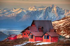 Highly recommend and should be on the bucket list! This photo doesn't do justice ... breathtakingly beautiful. Even better there are tiny rustic cabins for rent for the perfect romantic get away. See second pin for other pic. Hatcher's Pass, AK