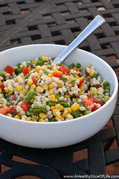Summer Vegetable & Barley Salad | A Healthy Slice of Life