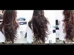 Cortes Feminino Desfiado - Sem tira no Tamanho - Zelinha Freitas Cabeleireira Vídeo You Tube 2014 - YouTube