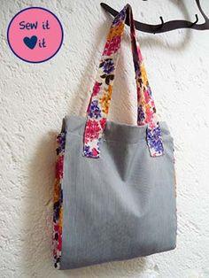 Easy tote bag patterns #sewing #patterns #bag #tote
