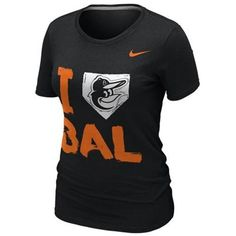 NEW ARRIVAL: Nike Baltimore Orioles Ladies I Love Slim Fit T-Shirt