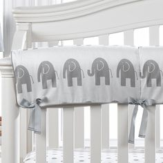 The gender neutral or unisex gray elephant crib bedding pattern is so versatile and can be accented with virtually any color. Measures x when flat. Elephant Baby Bedding, Elephant Themed Nursery, Grey Elephant, Wood Crib, Crib Rail Cover, Nursery Themes, Nursery Ideas, Baby Pillows, Crib Sheets