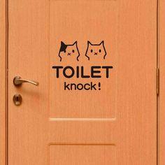 [US$4.82] Cute Cat Bathroom Toilet Waterproof Wall Poster Sticker #cute #bathroom #toilet #waterproof #wall #poster #sticker
