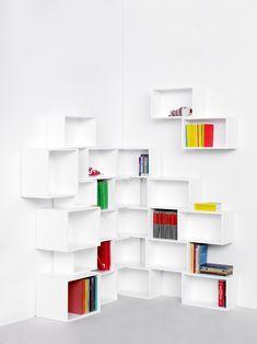 Libreria componibile laccata in MDF Parete attrezzata modulare by Cubit by Mymito | design Cubit