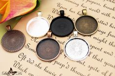1 Inch Round (25mm) Blank Photo Pendant Tray Settings