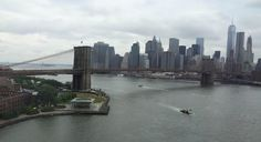 View of the famous Brooklyn Bridge.