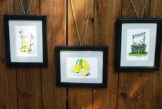 Lemon Kitchen art set of 3 original color pencil by LindseyJunkins, $60.00