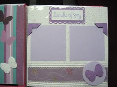 8 x 8 scrapbook pages for baby girl album