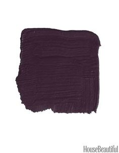 """When you first see this deep, rich purple, it looks quite dark, but it never loses the color. There's a good dose of red plum underneath. It would look kind of dapper on a door, very Savile Row. Dark and distinguished, yet unexpected. And it would work equally well on a traditional or a modern house."" -KEN FULK   - HouseBeautiful.com"