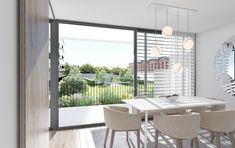 An open window to embrace a future of your own. Litoral Living designs large, modern spaces for comfortable living. Open Window, Modern Spaces, Minimal Design, Portugal, Real Estate, Windows, Living Room, Interior Design, Future