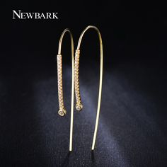 Find More Stud Earrings Information about NEWBARK Fashion 18k Gold Plated 52mm…
