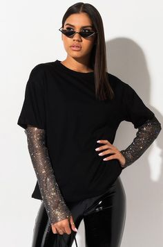 Womens Ladies Scoop Neck Frill Mesh Puff Short Sleeve Party Tee T shirt Top